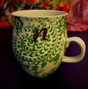 "Anthropologie ""n"" mug"